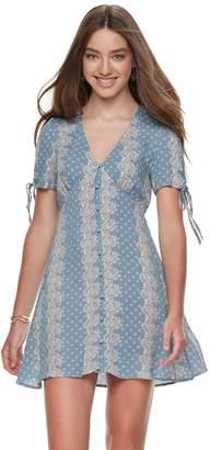 Living Doll Juniors' Button-Front Dress
