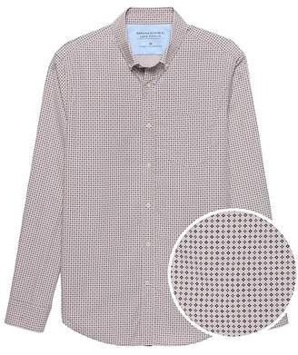 Banana Republic Camden Standard-Fit Luxe Poplin Print Shirt