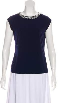 Karl Lagerfeld Embellished Short Sleeve T-Shirt w/ Tags
