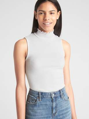 Gap Featherweight Ribbed Sleeveless Mockneck Top