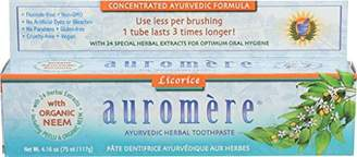 Auromere Ayurvedic Herbal Toothpaste Licorice by Fluoride-Free