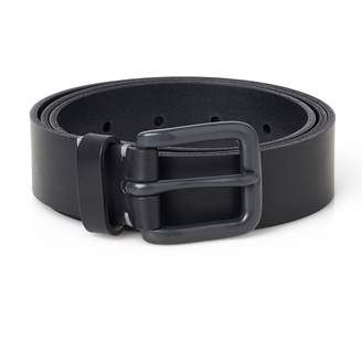 Awling - Handmade Modernist Leather Belt Pitch Black and Grey