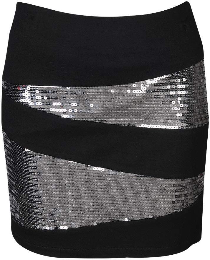 Sequin Zip Down Skirt