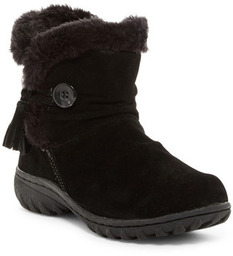 Khombu Copper Faux Fur Trimmed Boot $95 thestylecure.com