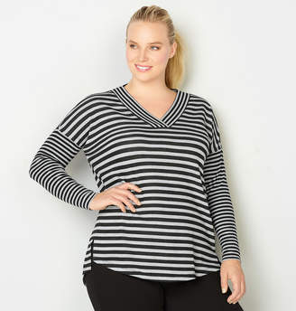 Avenue Striped French Terry Active Sweatshirt