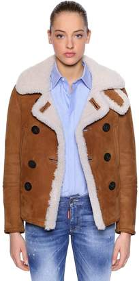 DSQUARED2 Double Breasted Shearling Jacket