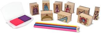 Melissa & Doug Princesses Wooden Stamp Set
