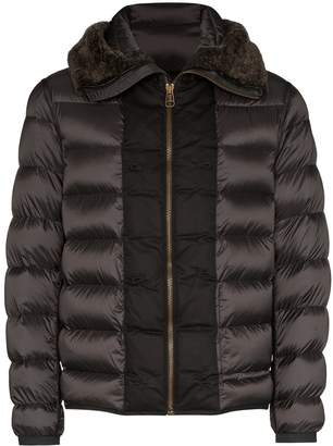 hooded shearling padded jacket