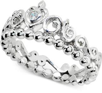 Giani Bernini Cubic Zironia Tiara Ring in Sterling Silver