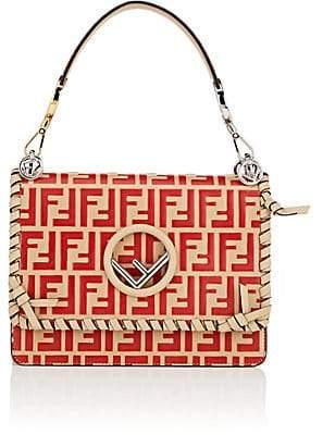 Fendi Women's Kan I Leather Shoulder Bag - Flame