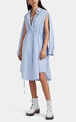 MM6 MAISON MARGIELA Women's Cutout Striped Cotton Poplin Shirtdress