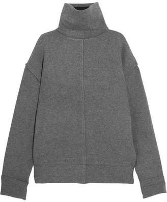Frame Wool-blend Turtleneck Sweater - Dark gray