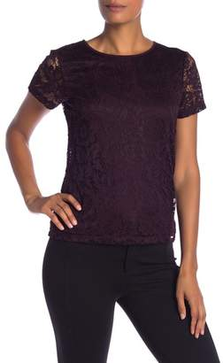 Modern American Designer Lace Detail Top