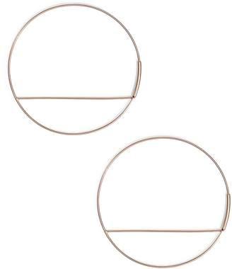 Lana Wire Eclipse Hoop Earrings