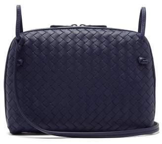 Bottega Veneta Nodini Small Intrecciato Leather Cross Body Bag - Womens - Navy