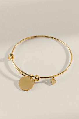 francesca's Katelyn Circle Charm Bangle - Gold