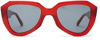 Celine Aviator Acetate Sunglasses - Womens - Red Multi