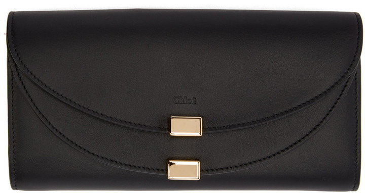 Chloé Chloé Black Long Georgia Flap Wallet