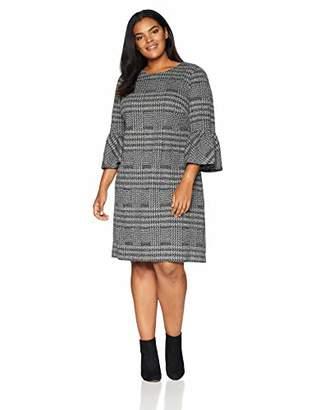Calvin Klein Women's Plus-Size Bell Sleeve Shift Dress
