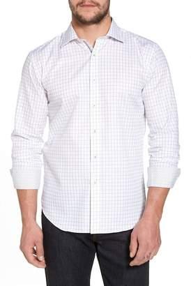 Bugatchi Slim Fit Windowpane Check Sport Shirt
