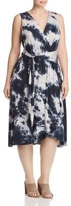 Bobeau B Collection by Curvy Rowan Tie-Dyed Faux-Wrap Dress