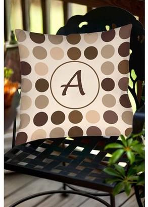 Thumbprintz Dots Monogram Neutral Decorative Pillows