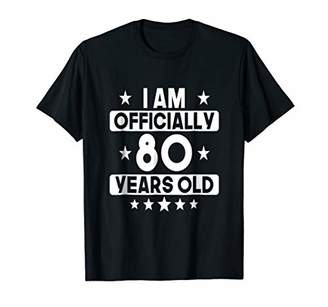 Mens I Am Officially 80 Years Old 80th Birthday T-shirt