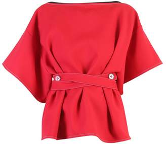 MM6 MAISON MARGIELA Red Belted Blouse