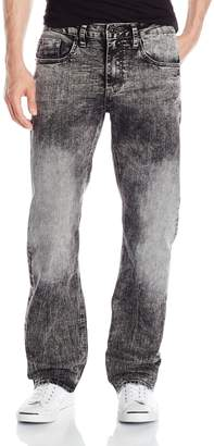 Buffalo David Bitton Men's Driven Straight Leg Jean in New Super Black