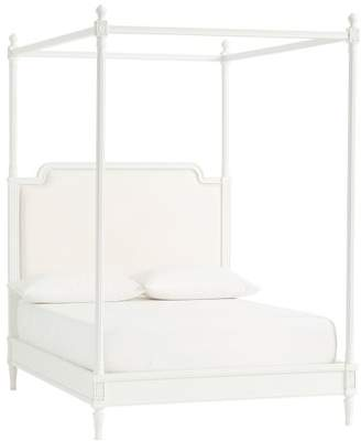 Pottery Barn Teen Colette Canopy Bed, Full, Water-Based Simply White