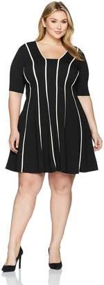 683248eb66e42 at Amazon Canada · Julian Taylor Women s Plus Size Fit Flare Seamed Dress