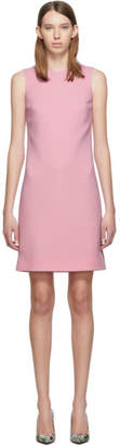 Dolce & Gabbana Pink Wool Crepe Dress