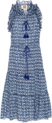 Figue Gabriella Tiered Cotton Midi Dress Size: M