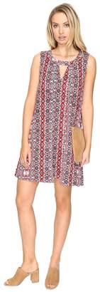 BB Dakota Artis Printed Overlap Dress Women's Dress