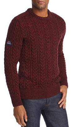 Superdry Jacob Tweed Cable-Knit Sweater