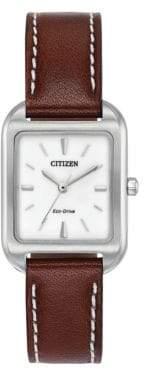 Citizen Chandler Leather Strap Watch