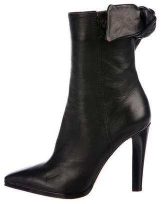 Christian Lacroix Leather Calf-High High-Heel Boots