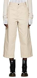 Marc Jacobs Women's Striped Cotton Crop Pants - White Pat.