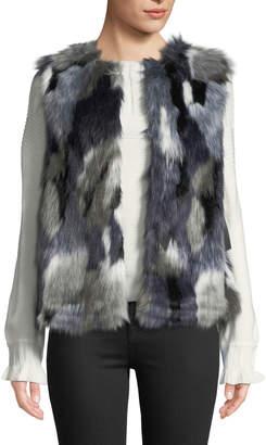 Bagatelle Faux-Fur Patched Vest