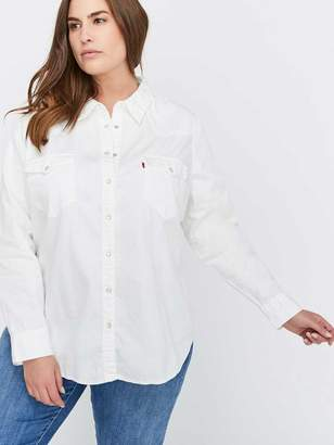 Western-Inspired Beat-Up White Blouse - Levi's