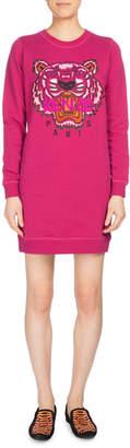 Kenzo Tiger Classic Sweatshirt Dress, Fuchsia