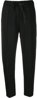 Semi-Couture Semicouture drawstring waist cropped trousers