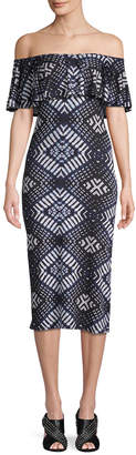 Rachel Pally Geometric Print Sheath Dress