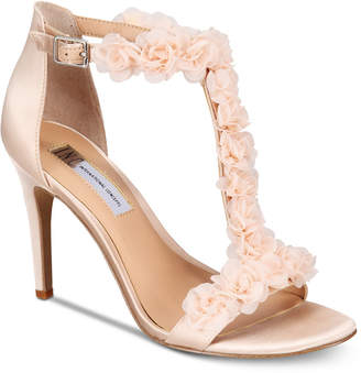 INC International Concepts I.N.C. Women's Rosiee T-Strap Embellished Evening Sandals, Created for Macy's
