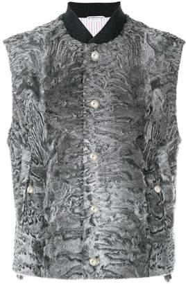 Thom Browne Dyed Karakul Fur Vest