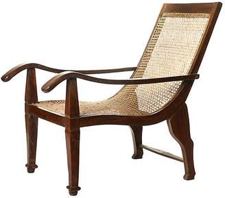 One Kings Lane Vintage Indian Ceylon cane seat Tiffin Chair - eastern goods