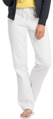 Hanes W550 Ecosmart Cotton-Rich Women Drawstring Sweatpants Size Small, White