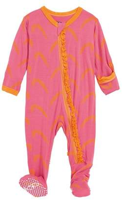 Kickee Pants Feather Ruffle Footie
