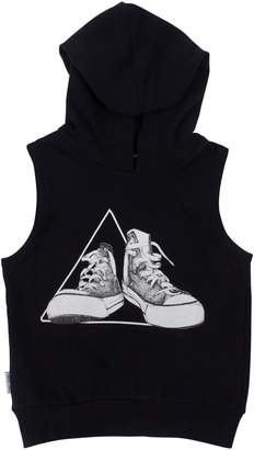 TINY TRIBE Sneaker Graphic Sleeveless Hoodie