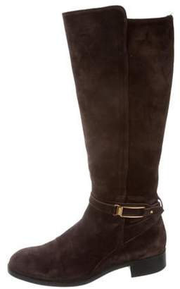 Tod's Round-Toe Knee-High Boots Brown Round-Toe Knee-High Boots